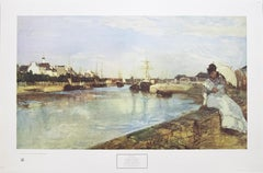 """Harbor at Lorient"" Print After Berthe Morisot. New York Graphic Society, 1969."