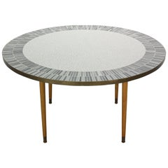 Berthold Muller Large Round Mosaic Coffee Table, Germany, 1960s