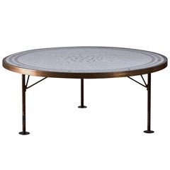 Berthold Muller Round Mosaic Coffee Table, Germany, 1960s