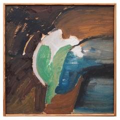 Bertil Berntsson Oil on Paper Painting, Sweden, 1950s