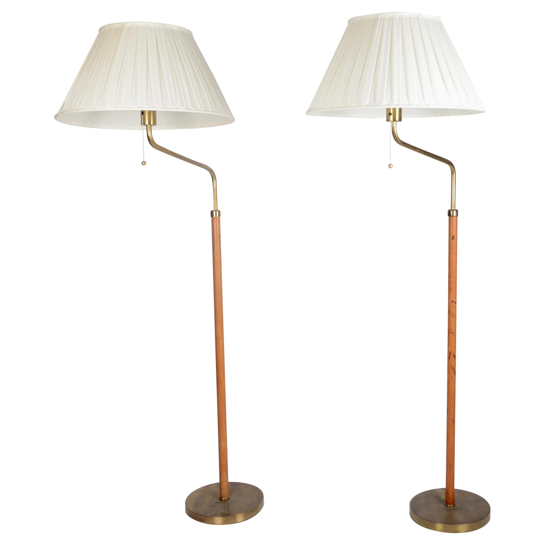 Bertil Brisborg, Floor Lamps, Designed for NK, Sweden, 1940s-1950s