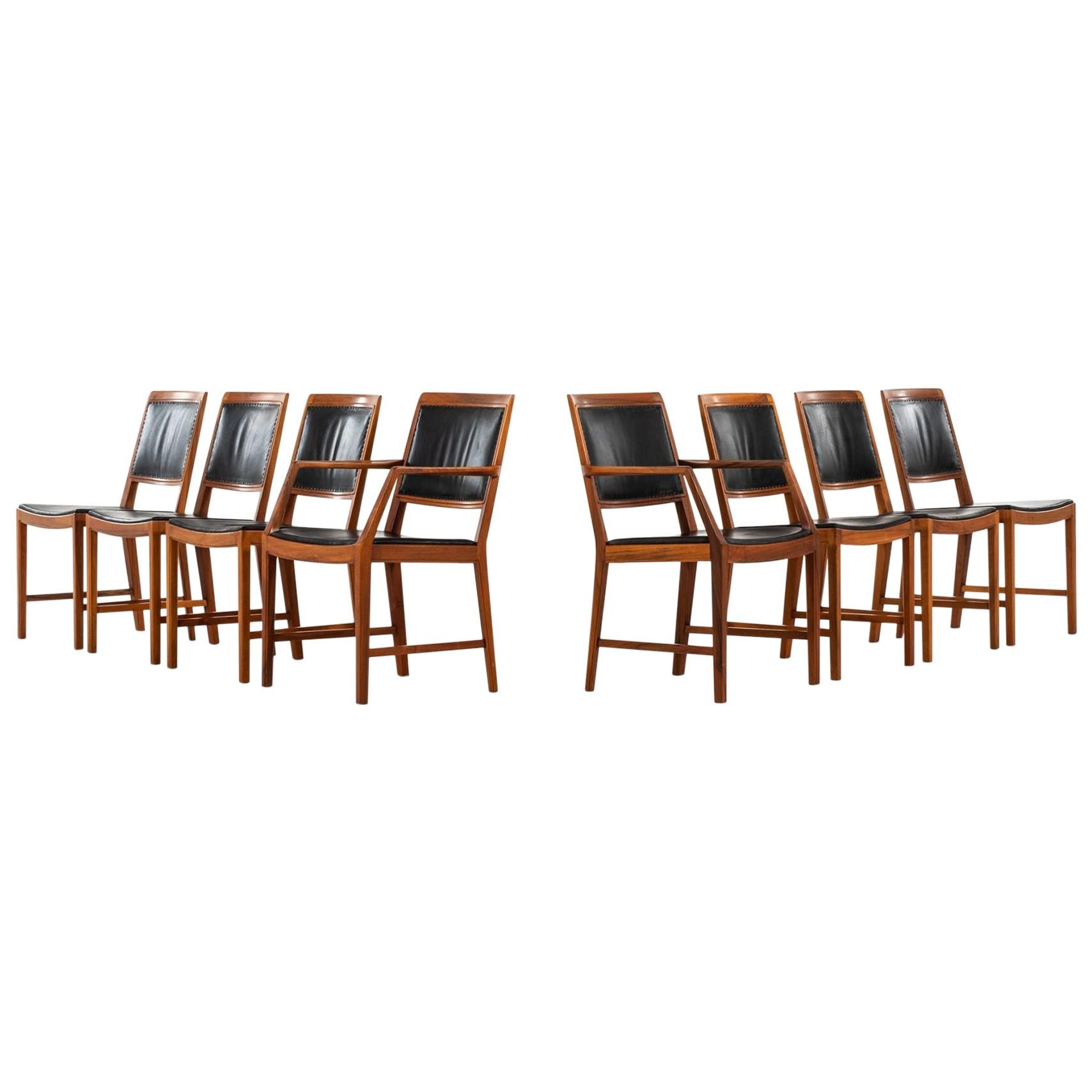 Bertil Fridhagen Dining Chairs Model Diamant Produced by Bodafors in Sweden