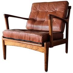 Bertil Fridhagen Easy Chair Model Kuba by Bröderna Andersson in Sweden