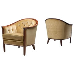 "Bertil Fridhagen Pair of ""Aristokrat"" Armchairs, Sweden, 1963"