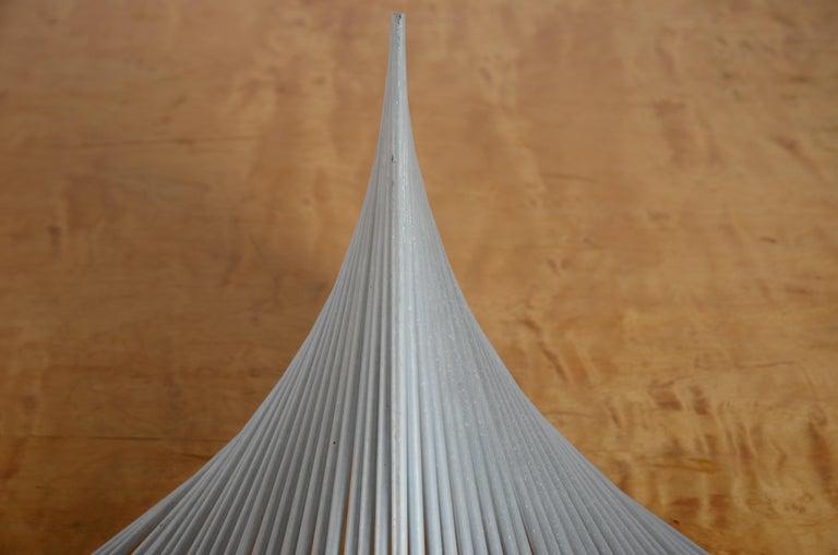 Sculpture in aluminum by Swedish artist Bertil Herlow Svensson (1929-2012).