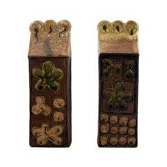 "Bertil Vallien for Gustavsberg, Two ""Baghdad"" Sculptures in Glazed Ceramics"