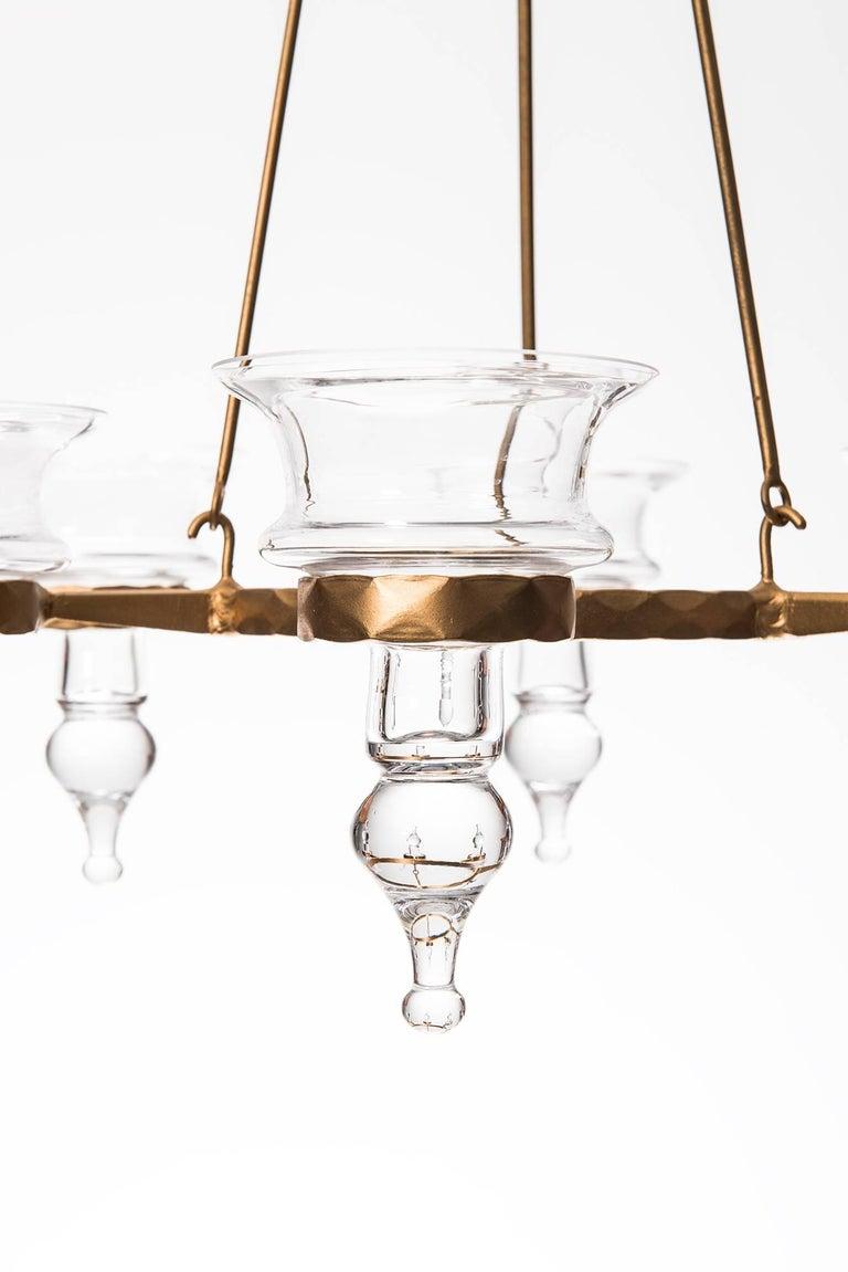 Scandinavian Modern Bertil Vallien Hanging Candelabra by Boda Smide in Sweden For Sale