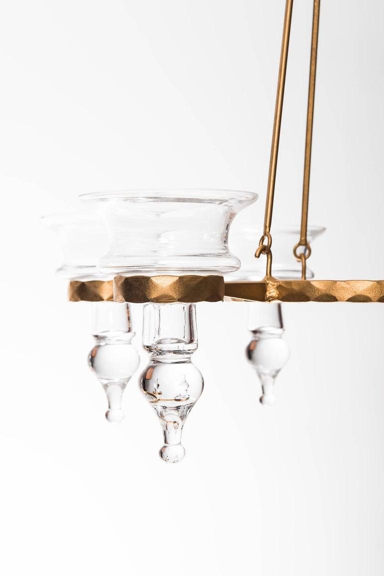 Swedish Bertil Vallien Hanging Candelabra by Boda Smide in Sweden For Sale