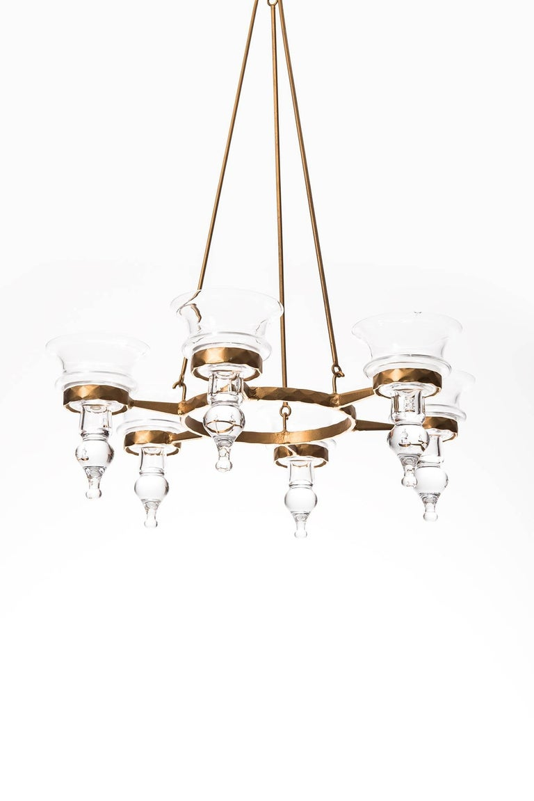 Bertil Vallien Hanging Candelabra by Boda Smide in Sweden In Excellent Condition For Sale In Malmo, SE