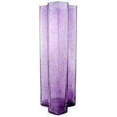 """Bertil Vallien, Kosta Boda, """"Mosaic"""" Vase of Purple Glass Art"""