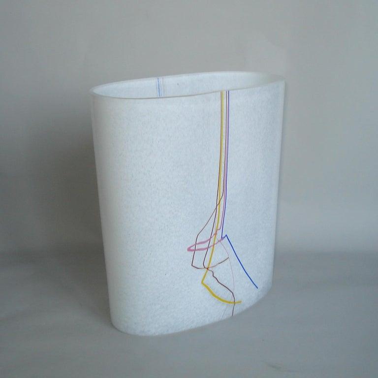Bertil Vallien Kosta Boda Swedish Art Glass Vase Rainbow In Excellent Condition For Sale In Bochum, NRW