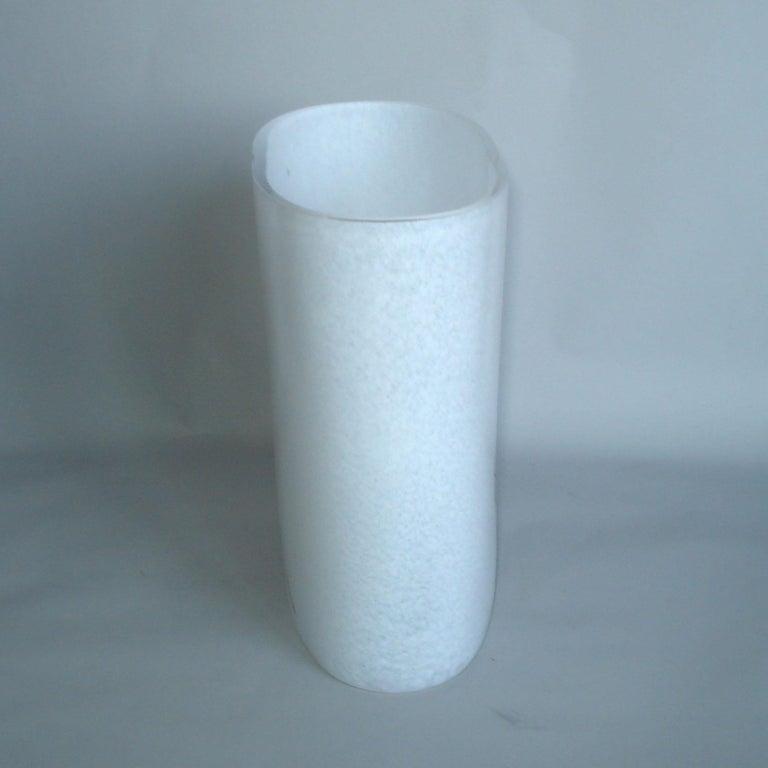 Late 20th Century Bertil Vallien Kosta Boda Swedish Art Glass Vase Rainbow For Sale