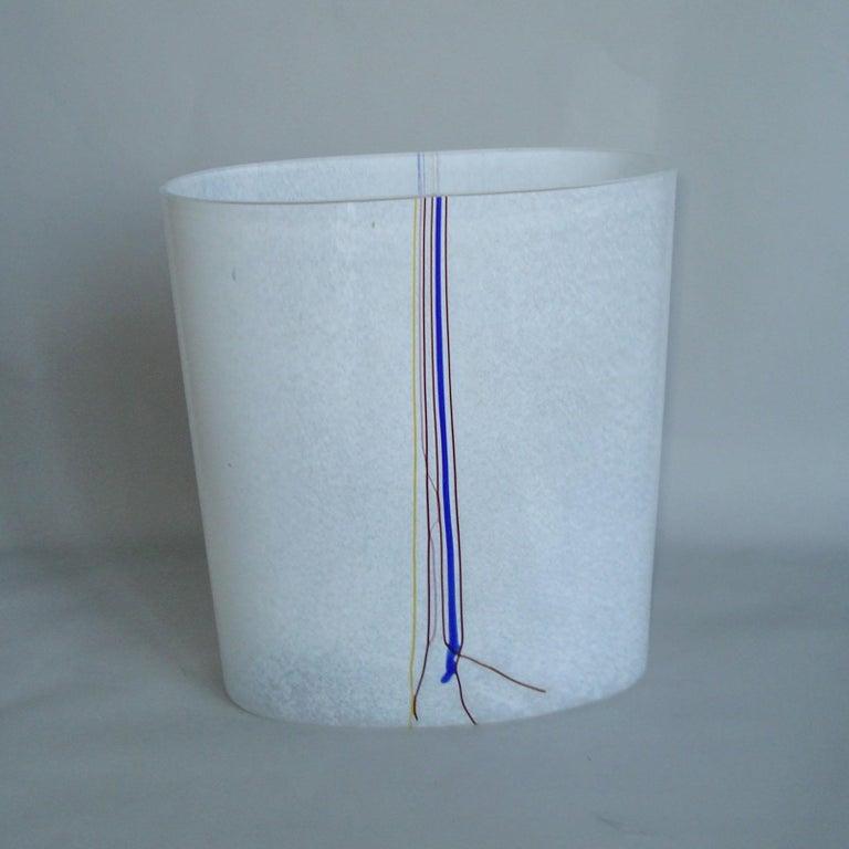 Bertil Vallien Kosta Boda Swedish Art Glass Vase Rainbow For Sale 1