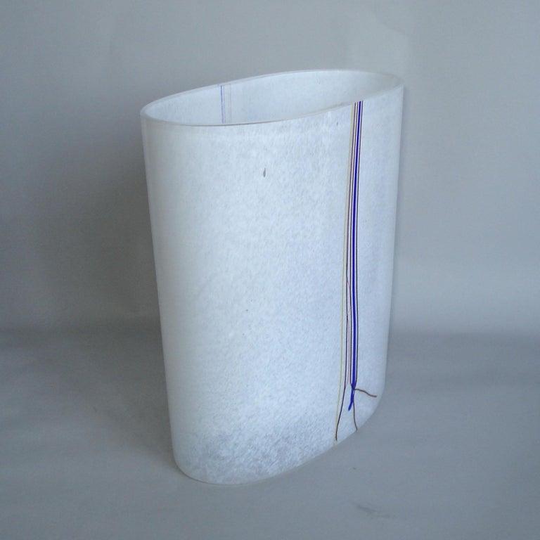 Bertil Vallien Kosta Boda Swedish Art Glass Vase Rainbow For Sale 2