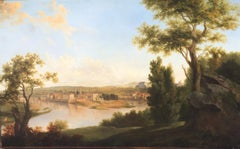View Of A City, Animated Landscape by Jean Victor Bertin