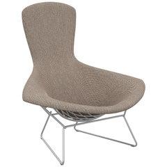 Bertoia Bird Chair in Cato/Sand Upholstery & Satin Chrome Frame