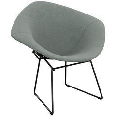 Bertoia Diamond Chair in Classic Boucle/Smoke Full Cover & Black Frame