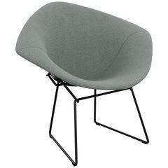 Bertoia Diamond Chair in Classic Boucle/Smoke Full Cover & Black Frame