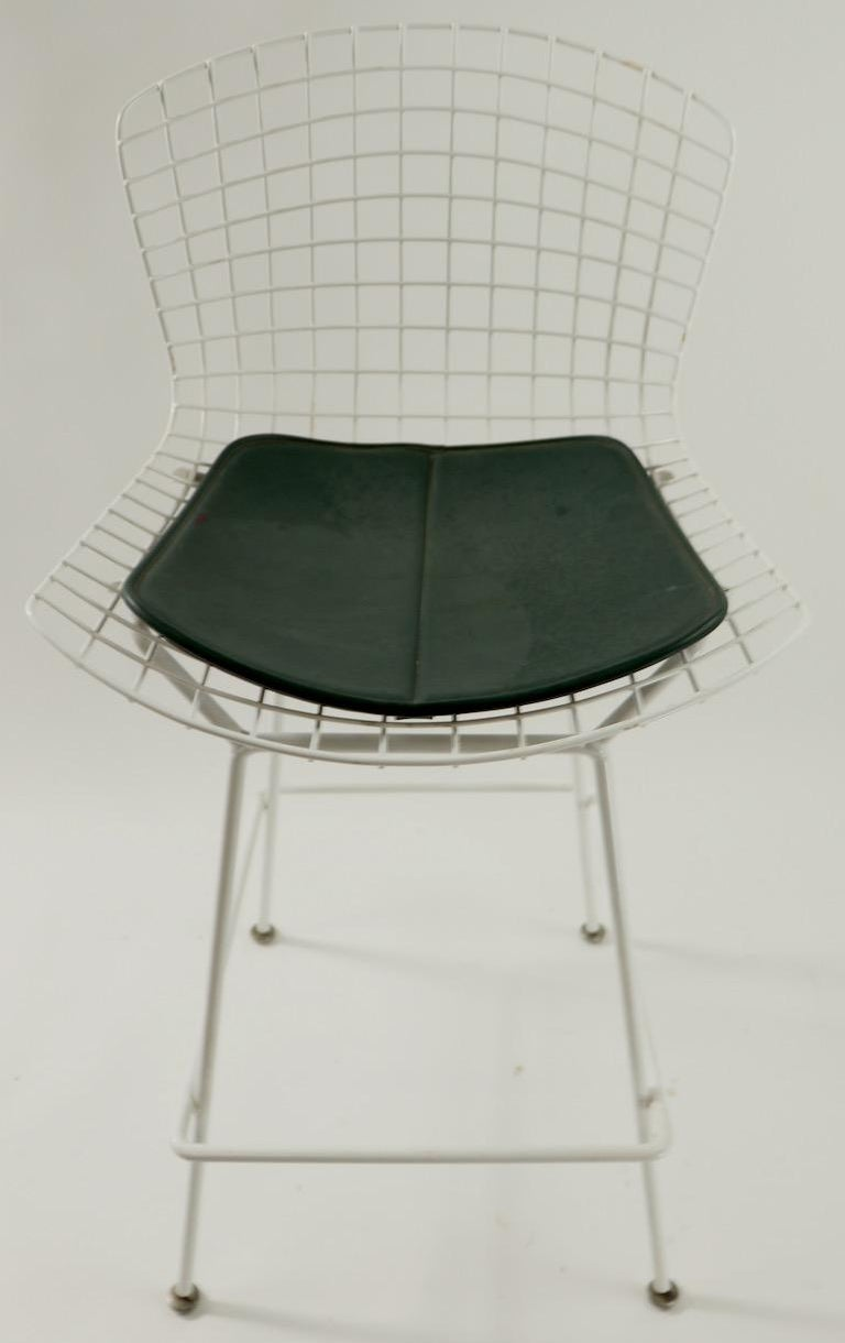 Mid-Century Modern Bertoia for Knoll Stool For Sale