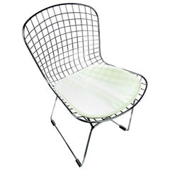 Bertoia Style Chrome Mesh Chair