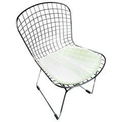 Bertoia Style Chrome Mesh Chair