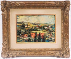 'Tuscan Landscape', Paris, Musee d'Art Moderne, Winston Churchill, Buenos Aires