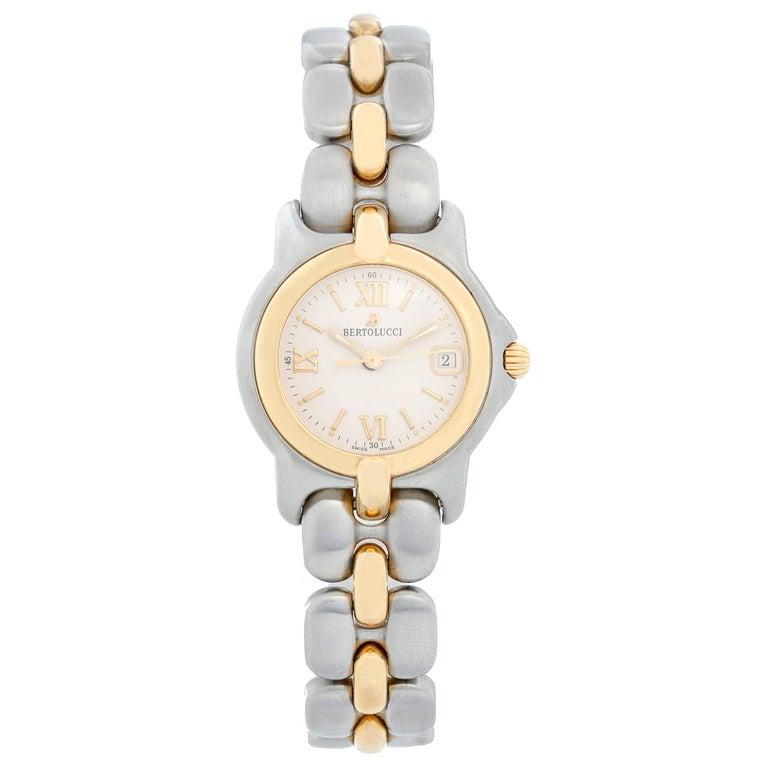 Bertolucci Ladies Two-Tone Quartz Watch For Sale
