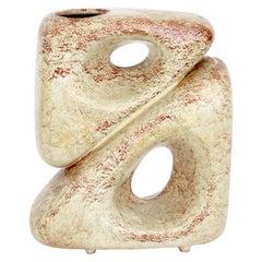Bertoncello Ceramiche Sculptural Italian Ceramic Vase Designed by Robert Rigon
