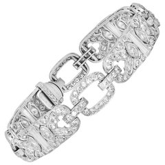 Bertram H. Satz Art Deco Platinum Diamond Bracelet