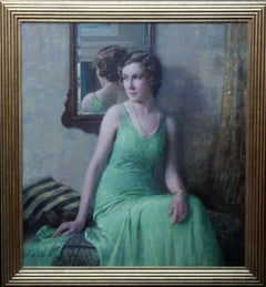 Billy - Kathleen Bell - British Art Deco Exhibited Female Portrait Oil Painting