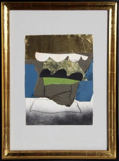 Abstract Mixed Media Collage by Bertrand Dorny
