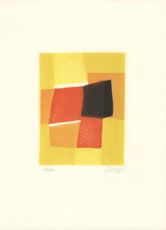 "Bertrand Dorny-Essence V-14.25"" x 10""-Etching-1974-Yellow"