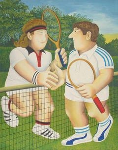Tennis, Lithograph by Beryl Cook
