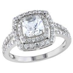 Bespoke 0.5-1 Carat Double Halo, Split Shank Diamond Engagement Ring
