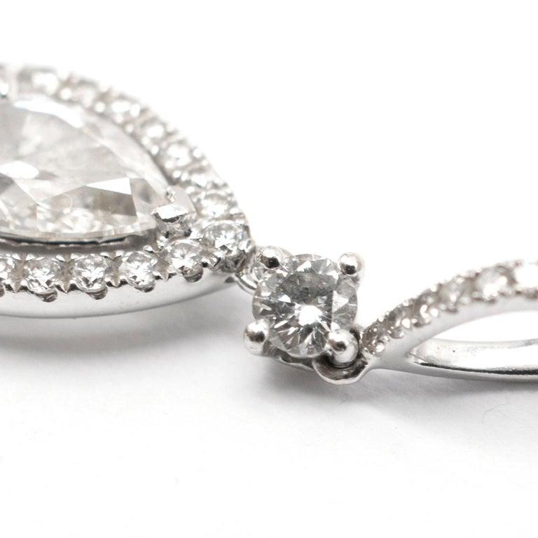 Women's Bespoke 1.08 Carat Diamonds Encrusted White Gold Pendant For Sale