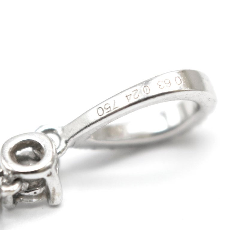 Bespoke 1.08 Carat Diamonds Encrusted White Gold Pendant For Sale 1