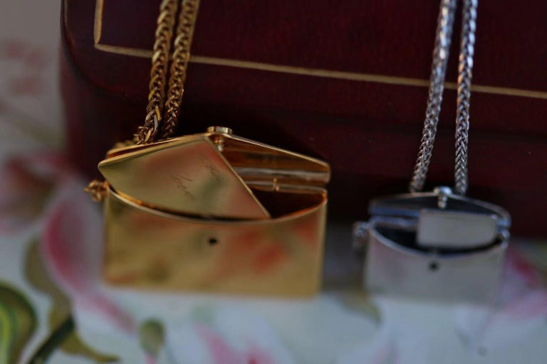 Bespoke 18K Yellow Gold Small Love Letter Pendant Necklace For Sale 3