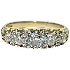 Bespoke 5-Stone Ring Set with 1.30 Carat Old Cut Diamonds in 18 Carat Gold