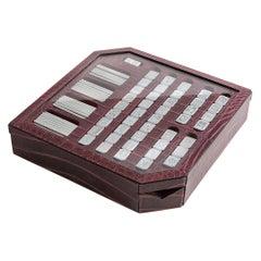 Bespoke Alligator Skin Mahjong Game Set