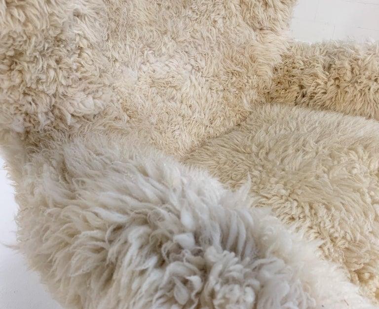 Bespoke Arne Jacobsen Egg Chair and Ottoman in California Sheepskin 5