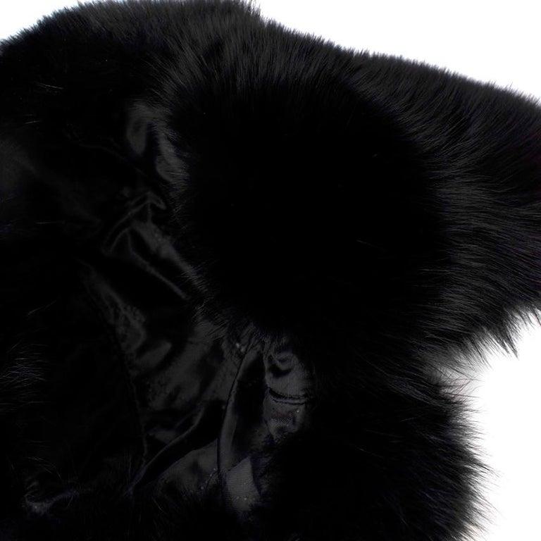 Bespoke Black Nylon & Vison Fur Padded Hat  For Sale 1