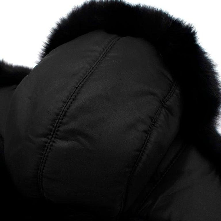 Bespoke Black Nylon & Vison Fur Padded Hat  For Sale 3