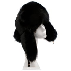 Bespoke Black Nylon & Vison Fur Padded Hat
