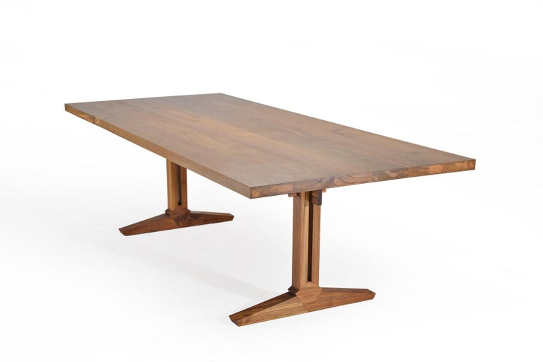 This is our very first 100% in-house designed and created table, or desk, or console. While we are known for mounting our creations on sand cast bronze or brass bases, we do not want to limit ourselves. We went back to the basics on this one: pure