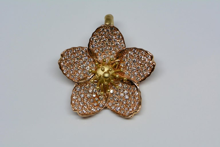 Our custom made Cherry Blossom pendant is the latest addition to our Imperial Collection! This collection features our own designs that are expertly crafted with an attention to detail that has been inspired by history and nature.  A springtime