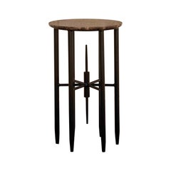 Bespoke Contemporary Architectural Gol.005 Marble Side Table, by Chapter-101