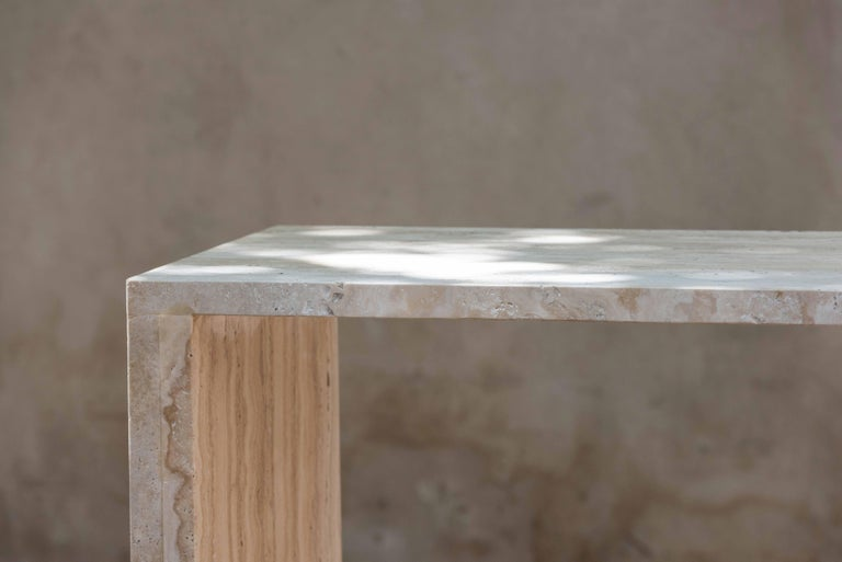 Bespoke Contemporary Architectural Marble Console Table, by Chapter 101 For Sale 1