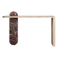 Bespoke Contemporary Architectural Marble Console Table, by Chapter 101