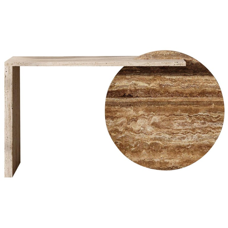 Bespoke Contemporary Marble Console Table, by Chapter 101 For Sale