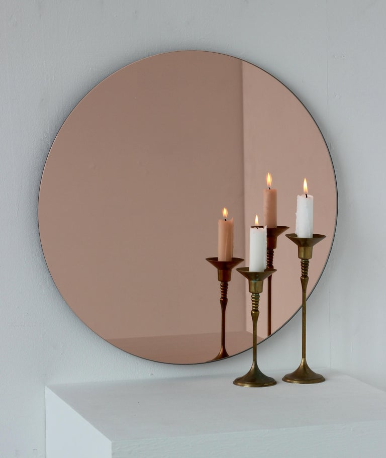 Bespoke Contemporary Peach Or Rose Tinted Large Orbis